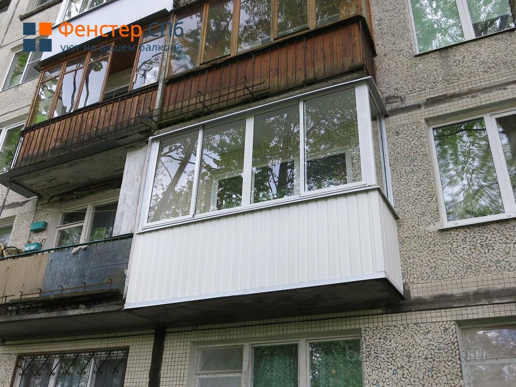 "Остекление и отделка балкона в хрущевке ""под ключ"" - описани."
