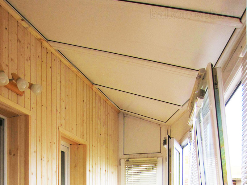 крыша балкона из оконного профиля
