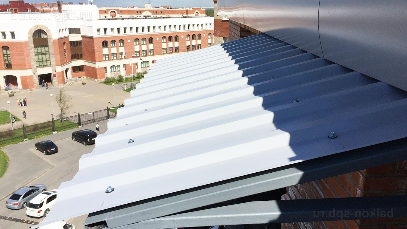 крыша балкона из профнастила