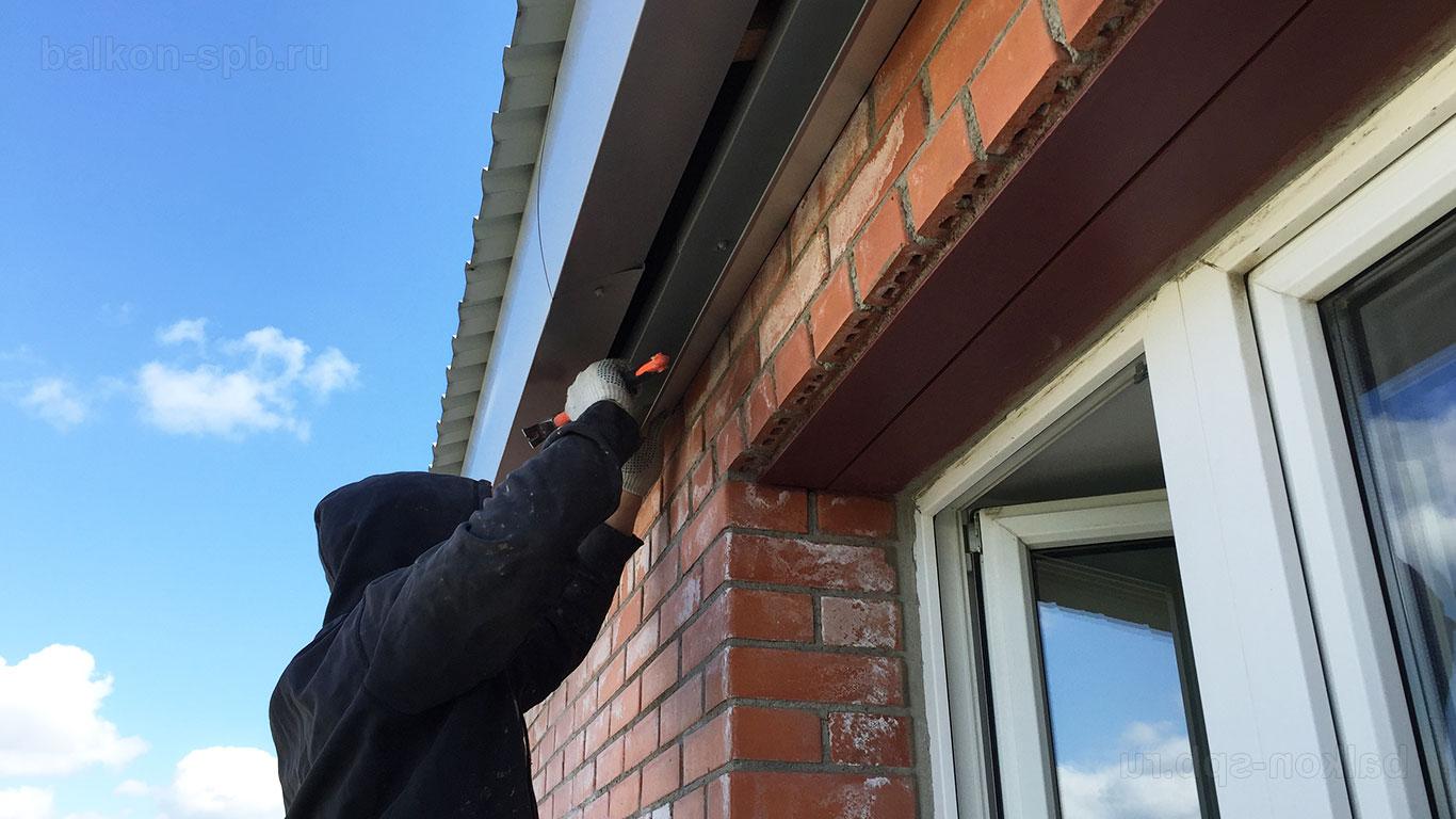Крыша на балконы: установка крыши над балконом под ключ в пу.
