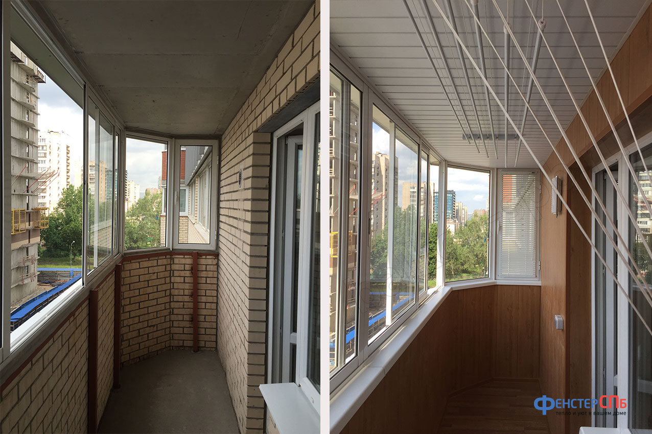 Дизайн балкона за домом