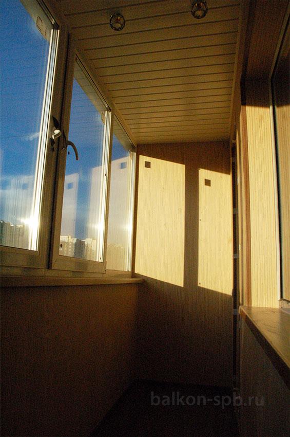 Отделка балкона без остекления