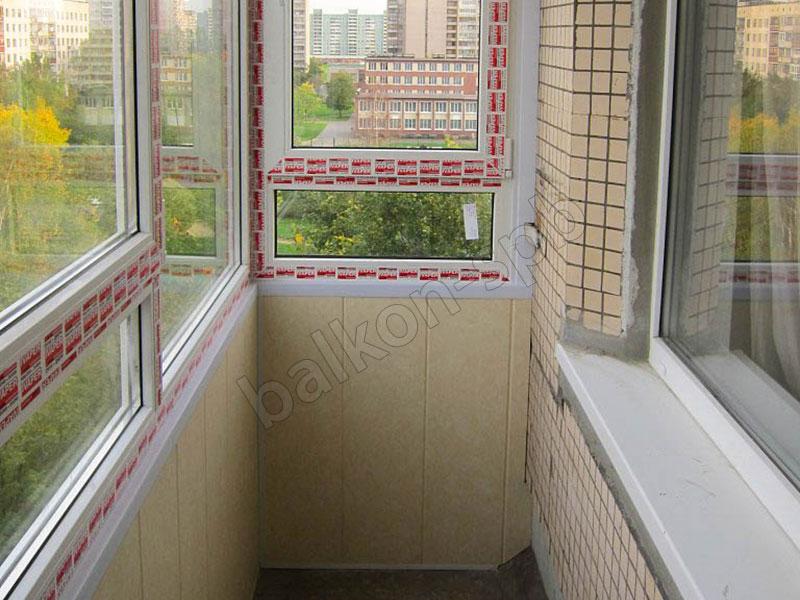 балкон остекление отделка