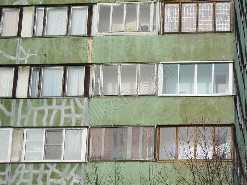 Остекление лоджий и балконов в 9 этажках..