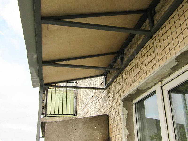 Как сделать крышу балкона последнего этажа своими руками 146