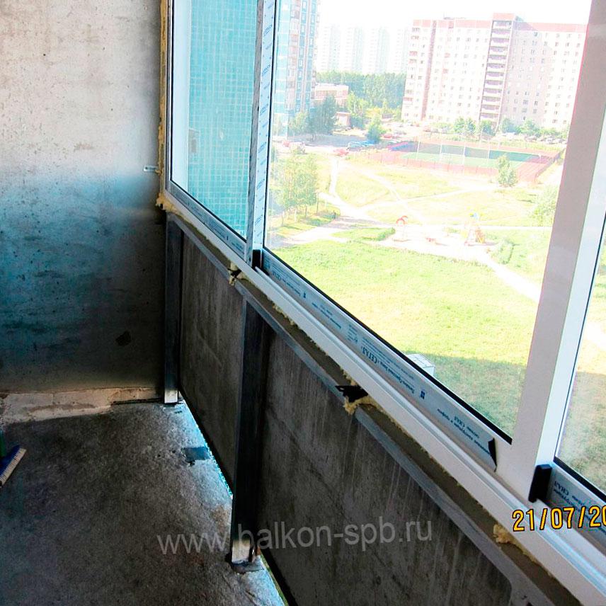 остекление балкона с демонтажем поручня