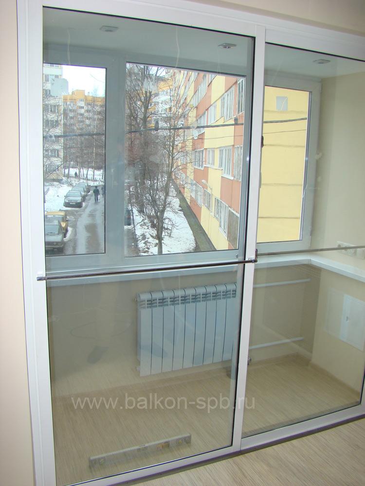 Утепленный балкон и лоджий с раздвижными дверьми.