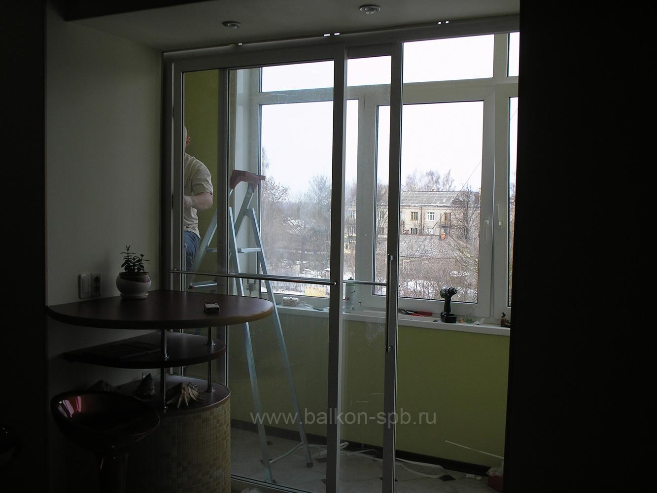 Отделка окна внутри
