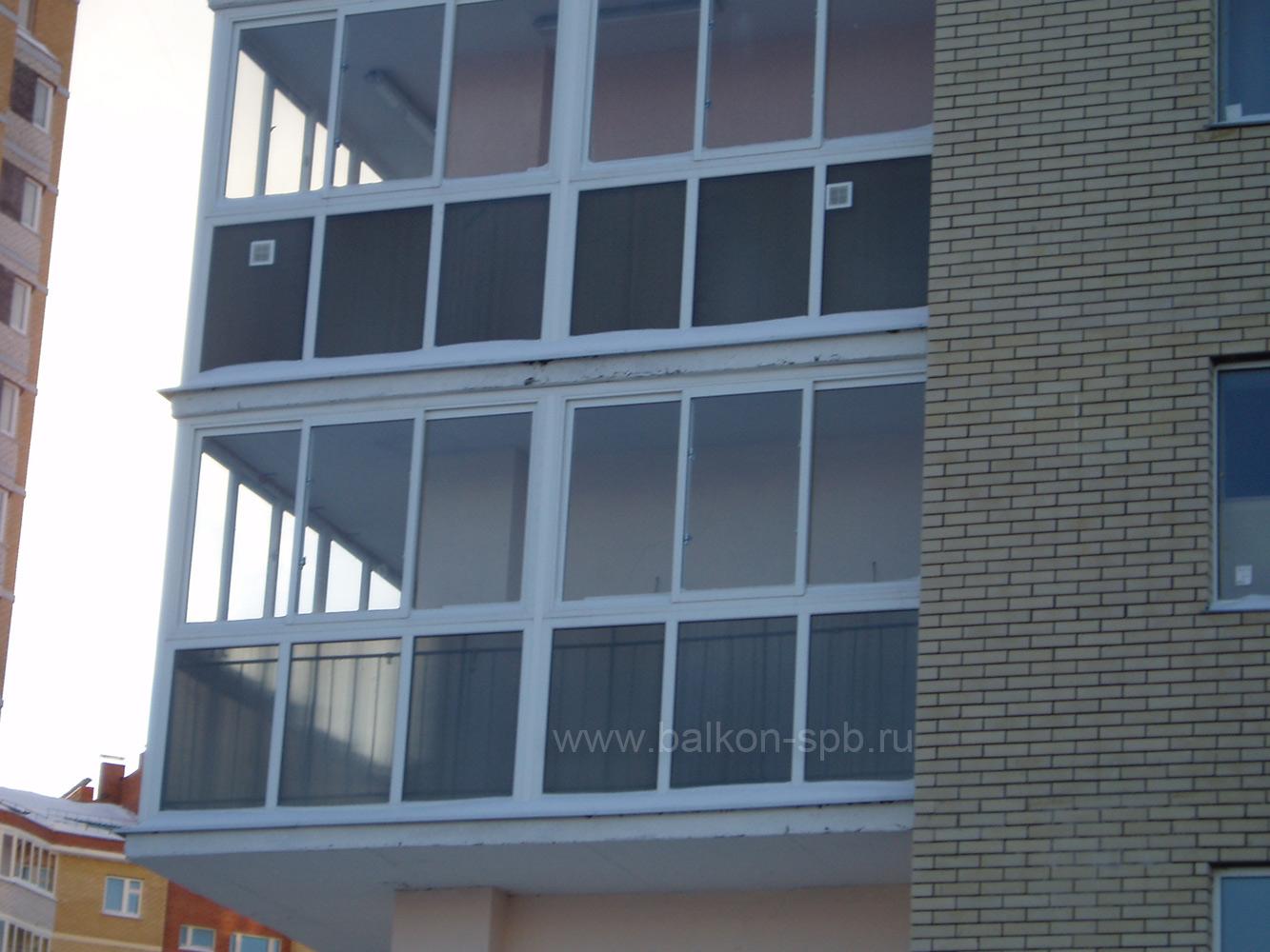 Остекление балкона, лоджии система базовых профилей slidors .