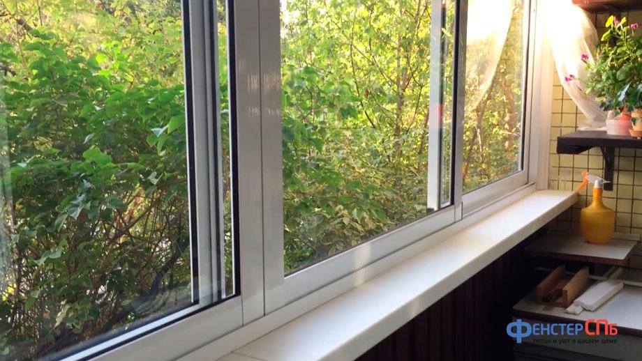 остекление балкона алюминиевым профилем видео